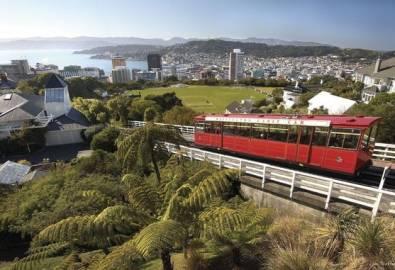 Neuseeland Wellington Fahrt zum Kelburn Hill