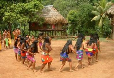 Panama Embera Indianer