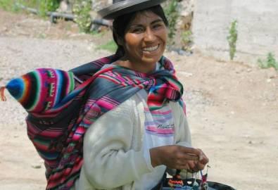 Peru Frau in Tracht
