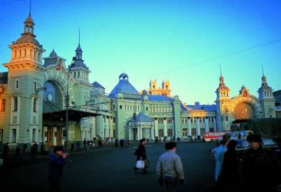Russland Moskau Bahnhof