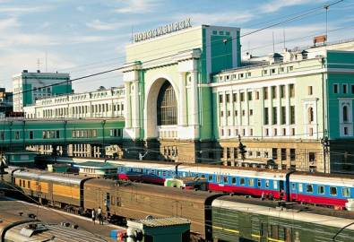 Russland Nowosibirsk Bahnhof