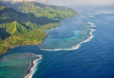 Südsee Tahiti von oben