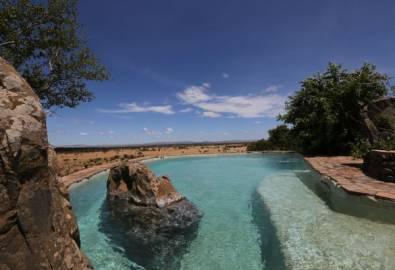 Tansania Grumeti Hills Lodge Aussicht