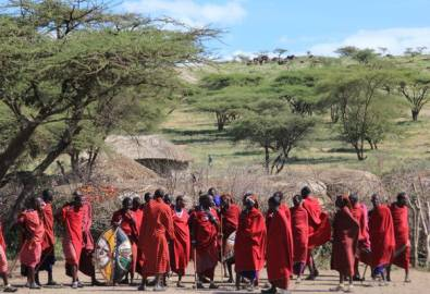 Tansania Massai Gruppe