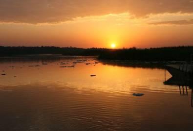 Uganda Murchison Falls Nationalpark Sonnenuntergang