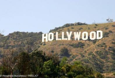 USA Los Angeles Hollywood Schriftzug