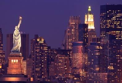 USA New York Skyline mit Freiheitsstatue