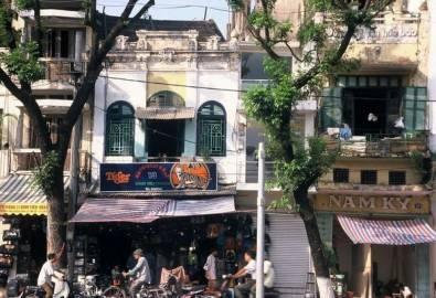 Vietnam Hanoi Häuserfront