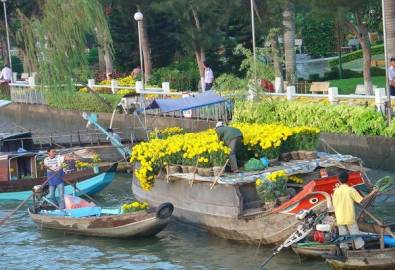 Vietnam Mekong schwimmender Markt